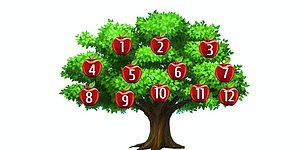 Тест: Выбрав одно из яблок вы узнайте, исполнится ли ваше желание