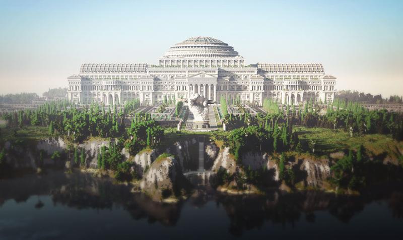 Эта библиотека в Minecraft была построена 24 людьми