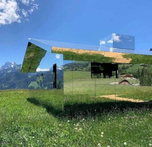 """Как будет выглядеть полностью """"зеркальный дом"""""""