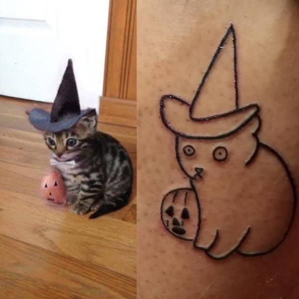 Татуировка котика
