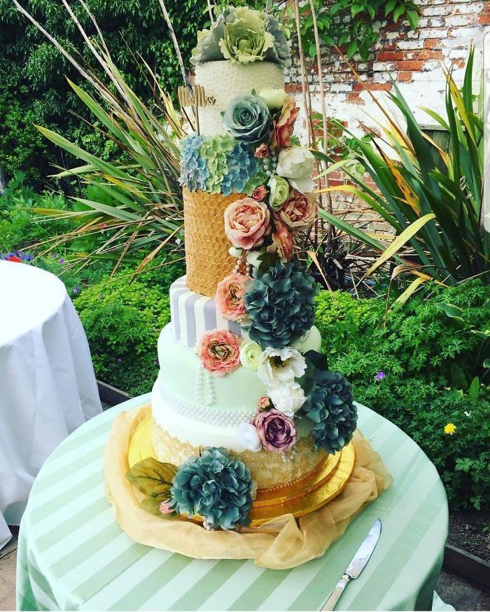 18 современных идей для того, чтобы свадебный торт не оставил никого равнодушным