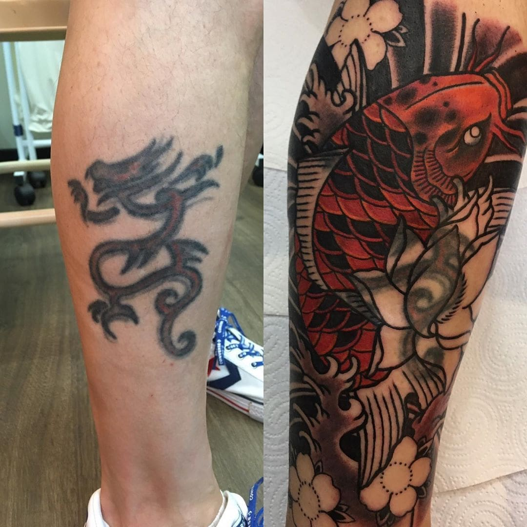 20 примеров работы настоящих профи тату, которые переделали юношеские «партаки» в крутые татуировки