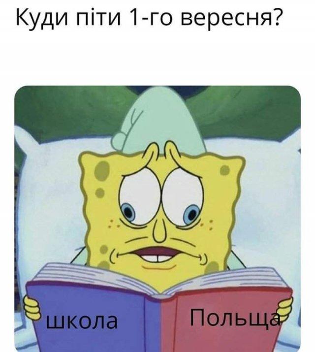 Мем про школу и Польшу
