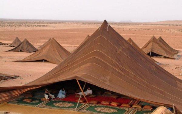 """Жилые шатры """"пирамидной"""" формы из Марокко"""