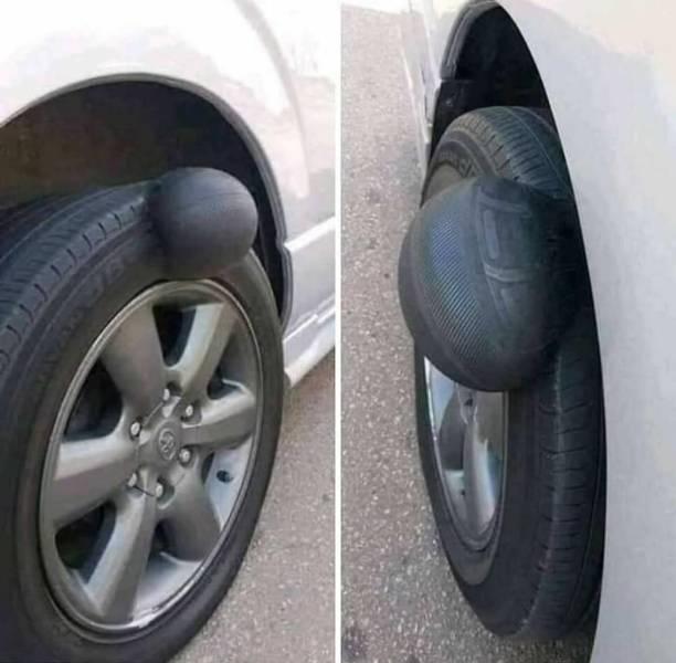 Шишка на автомобильном колесе