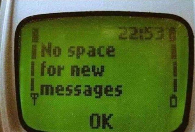 Не хватает место для новых смс-сообщений. Черт