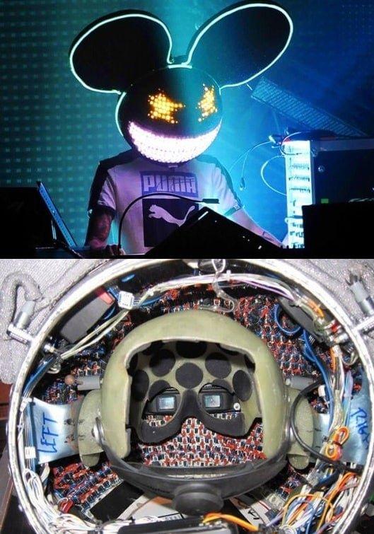 Шлем исполнителя Deadmau5 и его устройство