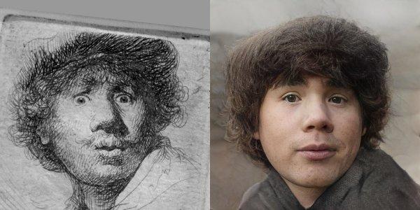 Еще один эксперимент с автопортретом Рембрандта