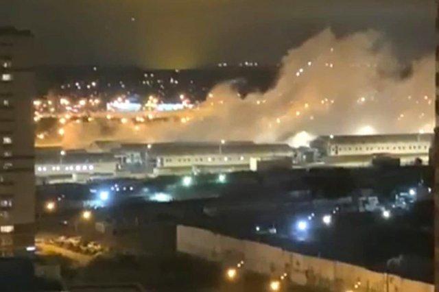 В московской коронавирусной больнице Коммунарка произошел взрыв (4 видео)