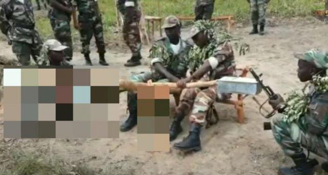 """Африканские военные учатся """"стрелять"""" из зенитной установки"""