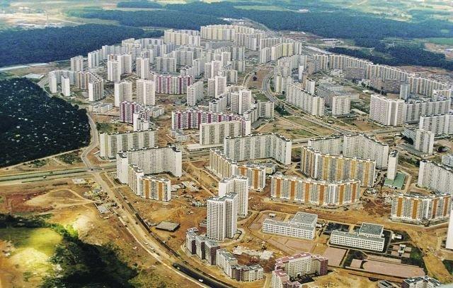 Новый микрорайон Москвы - Митино. 1995 год