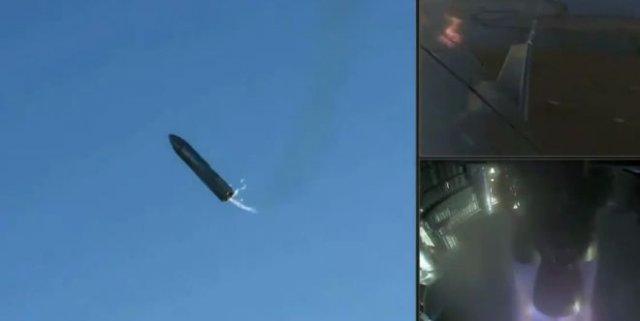 Эпичный взрыв прототипа ракеты SpaceX Starship при посадке