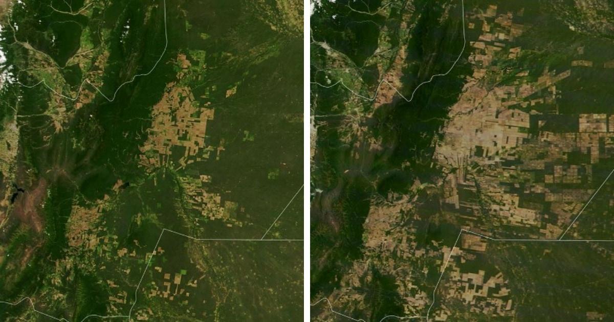 15 снимков со спутников НАСА, показывающие изменения, происходящие на поверхности нашей планеты