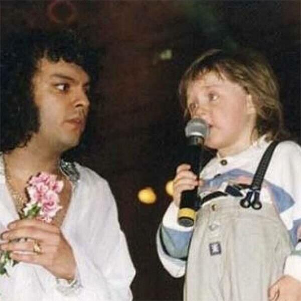 Филипп Киркоров с маленьким Владом Соколовским