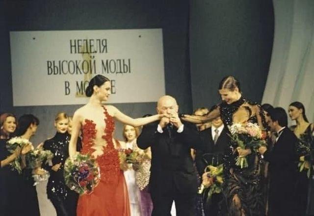 Мэр Москвы Юрий Лужков на 6-ой Неделе Высокой Моды в Москве