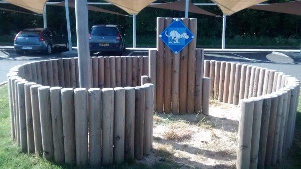 Специальная зона на заправочной станции, где собаки могут заниматься своими делами