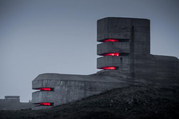 Немецкий наблюдательный пост времён Второй мировой войны на Островах Гернси