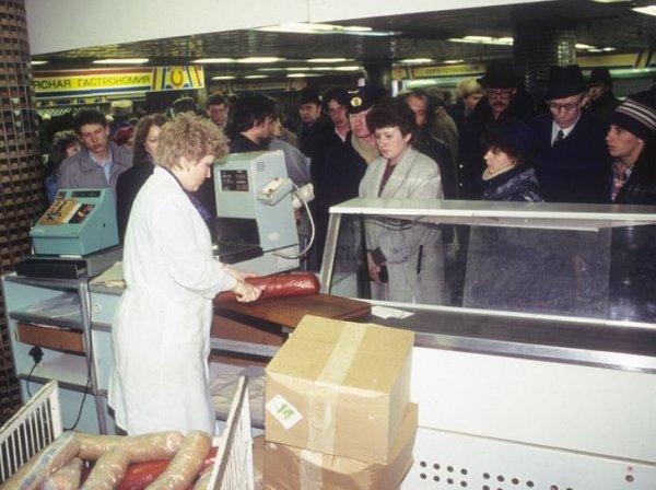 Мясной отдел в магазине