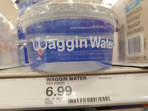 Специальная бутылка с водой, из которой удобной напоить питомца