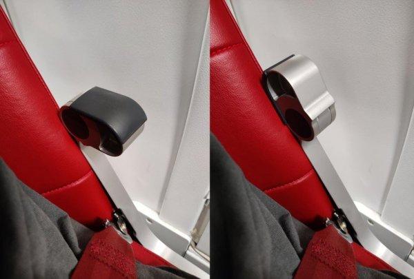 Малюсенький подлокотник на кресле в самолёте, который можно легко откинуть