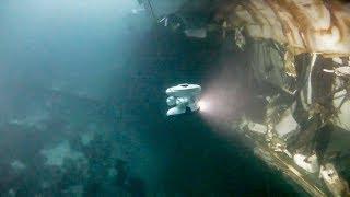 Подводное видео затонувшего норвежского фрегата Helge Ingstad