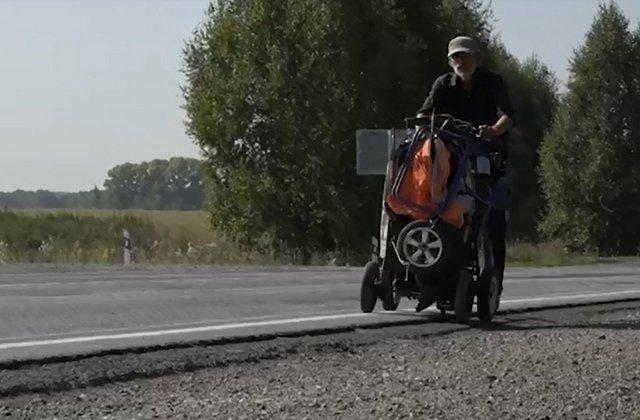 Слепой путешественник Сергей Алексеев прошел 4000 километров по России