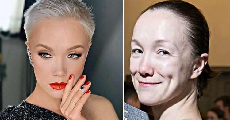 Любимые звезды с макияжем просто ослепительны…но без красок лицо «стирается»