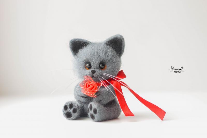 Коты из войлока от Елизаветы Делекторской